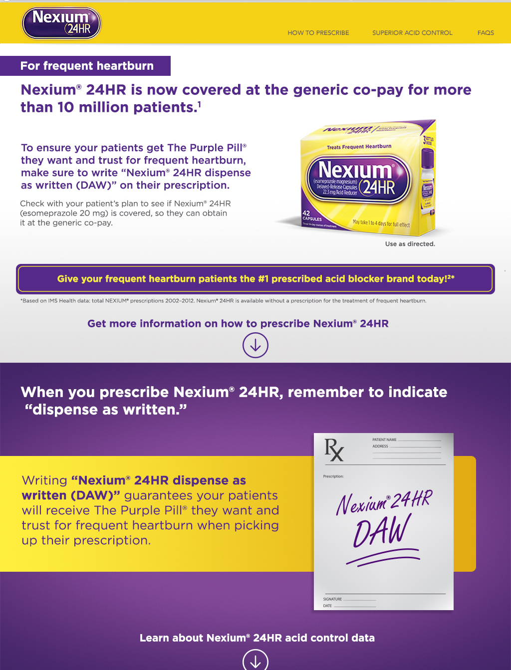 learn about prescribing nexium 24hr