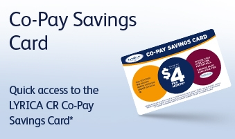 Quick access to the Lyrica CR Co-Pay Savings Card