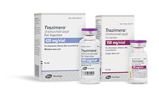 TRAZIMERA 150 mg/vial and 420 mg/vial packaging image