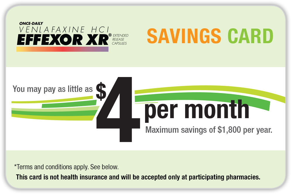 : EFFEXOR XR® (venlafaxine XR) Savings Card