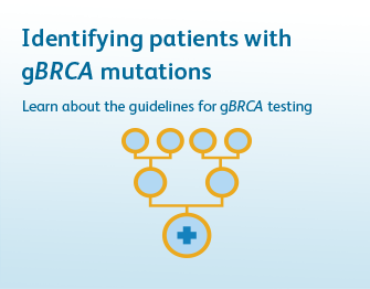 Identifying patients with gBRCA mutations. Learn about the guidelines for gBRCA testing. Click to learn more.