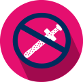Icon of a do not use image