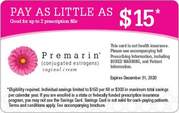 image regarding Premarin Coupon Printable named PREMARIN® (conjugated estrogens) Vaginal Product Price savings