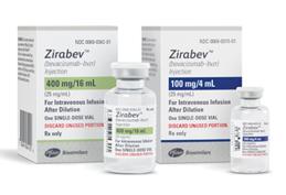 ZIRABEV 100 mg/4 mL and 400 mg/16 mL packaging image