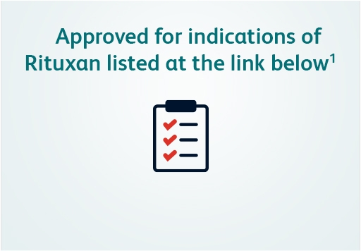 Approved across all eligible indications of Rituxan