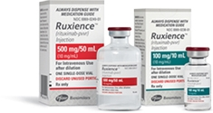 RUXIENCE 100 mg/10 mL and 500 mg/50 mL packaging image