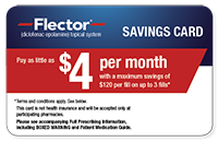 Flector savings card